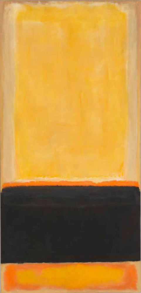 "Mark Rothko, ""No. 4 (Yellow, Black, Orange on Yellow/ Untitled)"", 1953, oil on canvas, 269.2x127cm. Whitney Museum of American Art, New York. © 1998 Kate Rothko Prizel & Christopher Rothko ARS, NY and DACS, London."
