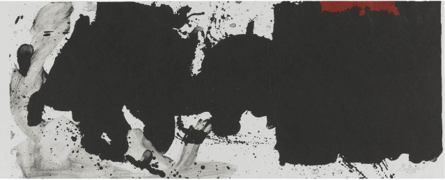 """Black with No Way Out"", 1983, lithograph, 38.1 x 96.5cm"
