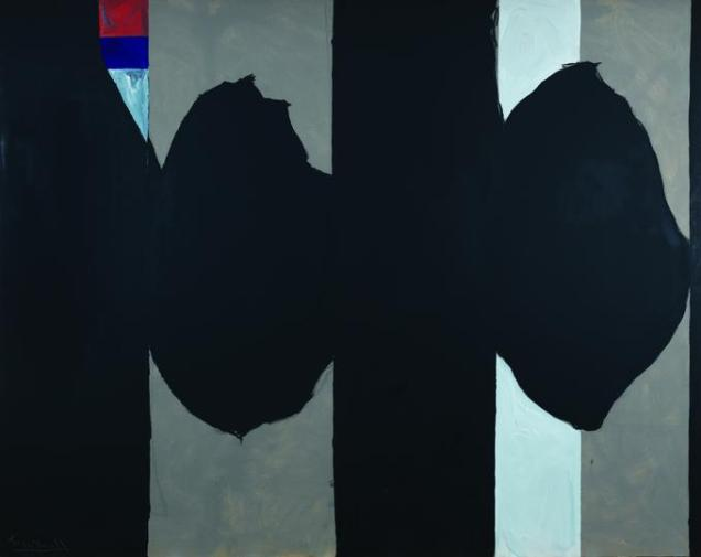 """Elegy to the Spanish Republic No. 130"", 1974-75, acrylic on canvas, 243.8 x 304.8cm"