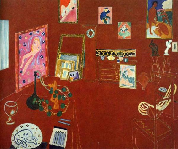 "Henri Matiise, ""The Red Studio"", 1911"