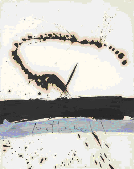 Robert Motherwell, Beside the Sea No 3, 1962, oil on paper, 73.7 x 57.8cms