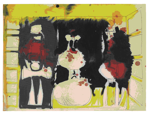 Robert Motherwell, Untitled, 1944, gouache and ink on paper, 44.5 x 59.7cm
