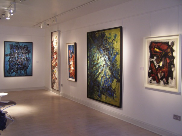 Frank Avray Wilson installation at Whitford Fine Art