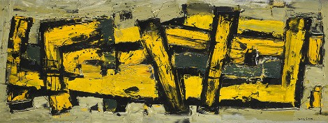 """Conjugation"", 1953, oil on canvas, 40x104cm"