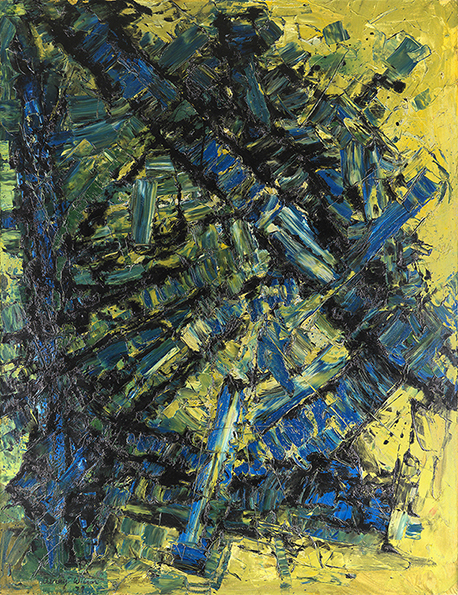 """Reactive"", 1959, oil on canvas, 198x152cm"
