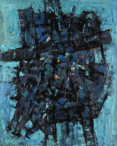 """""""Myth Form"""", 1958, oil on canvas, 152x122cm"""