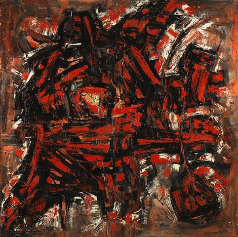 """""""Energy"""" c.1959, oil on canvas, 183x183cm"""