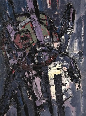 """Oracle"", 1956, oil on board, 122x91cm"
