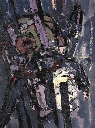 """Oracle"", 1956, oil on board, 122x91cm"