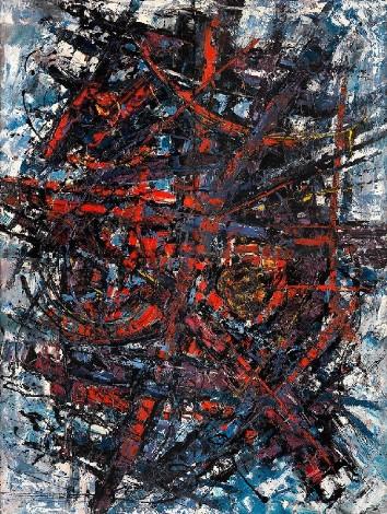 """Exaltation"", c.1960, oil on board, four panels, 122x92cm each"