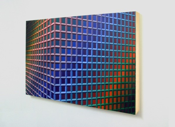 "Charley Peters, ""Plexus_rgb_2-0-2015, acrylic on canvas"