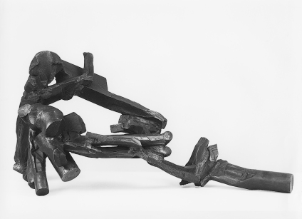 """Tim Scott, """"Moment of Rhythm"""", 1989, steel, H.55cm. © Tim Scott, photo courtesy Galerie von Wentzel, ColognePotsdam"""