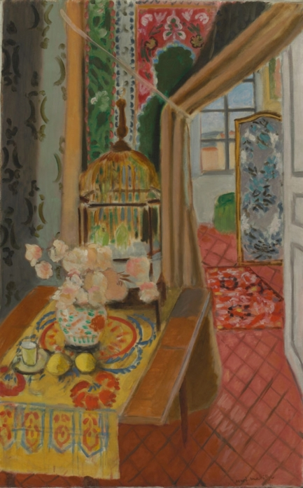 Henri Matisse, Interior, Flowers and Parakeets, 1924, Baltimore Museum of Art: The Cone Collection. Succession H. Matisse / Artists Rights Society (ARS)