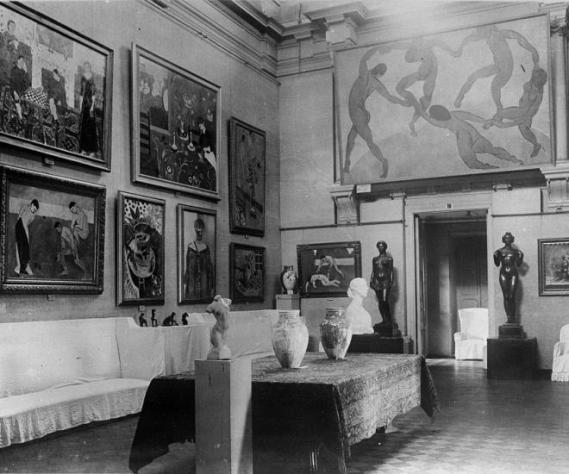 View of Matisses in the original Shchukin collection