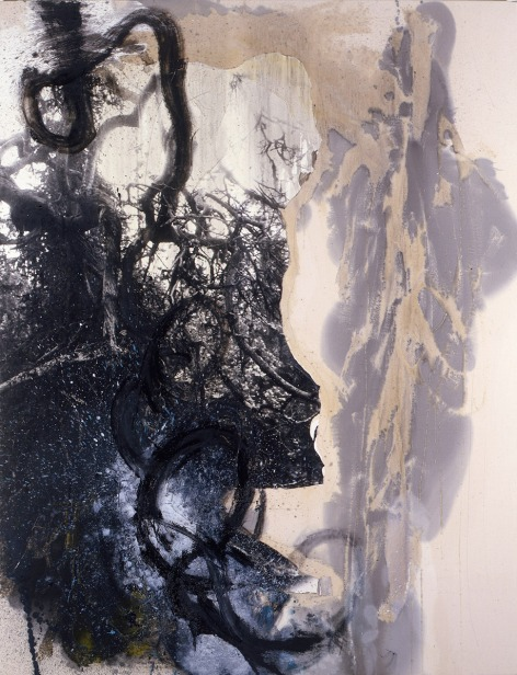 Ian McKeever, 'Hearing You Breathe II', 1986, oil and photograph on canvas