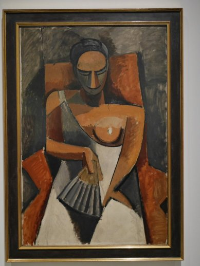 "Pablo Picasso, ""Woman with a Fan"","