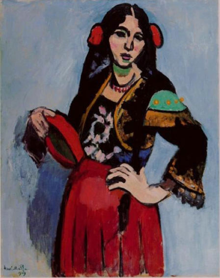 "Henri Matisse, ""Spanish Woman with a Tambourine"","