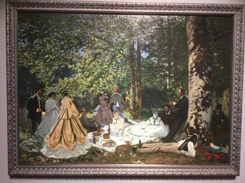 "Claude Monet, ""The Picnic"", 1865, photo Alan Gouk"