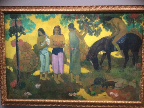 "Paul Gauguin, ""Gathering Fruit"", 1899."